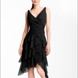 Tadashi Tiered Chiffon Dress